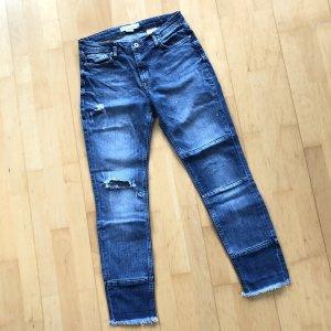 H&M Logg Jeanshose Gr 36 Jeans Hose blau usedlook boyfriend