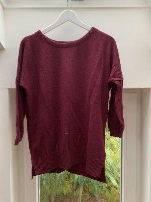 H&M Logg Pullover dunkelrot bordeauxrot 3/4 Arm