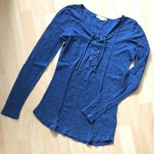 H&M  Logg Shiet Gr XS blau Longsleeve langarm pulli kordelzug