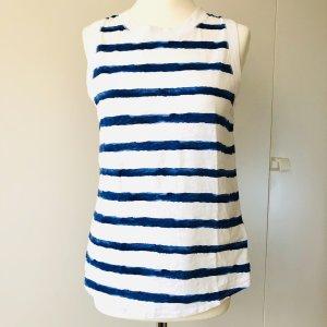 H&M Logg Shirt Gr  S blau weiss gestreift Top Sommer