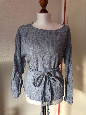 H&M Logg Tunika Baumwolle Blau 38