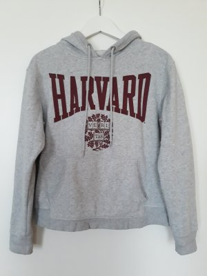 H&M L.O.G.G. Hooded Sweater silver-colored-purple cotton