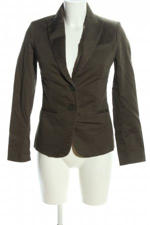 H&M Long-Blazer khaki Business-Look