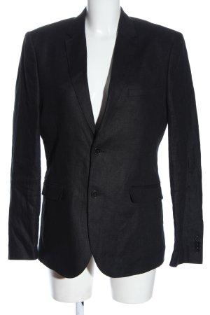 H&M Long-Blazer hellgrau meliert Business-Look