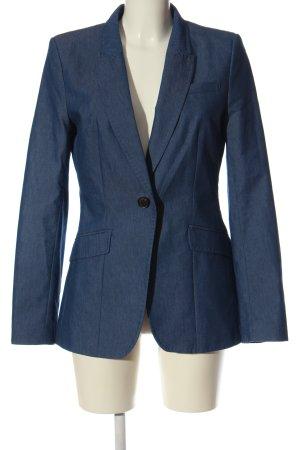 H&M Long-Blazer blau Business-Look