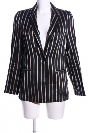 H&M Long-Blazer schwarz-weiß Allover-Druck Business-Look
