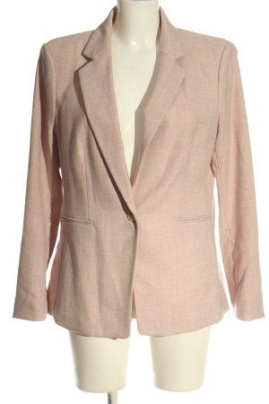H&M Long Blazer nude-cream weave pattern business style