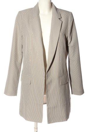 H&M Long-Blazer creme Allover-Druck Business-Look