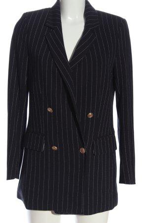 H&M Long-Blazer schwarz-weiß Streifenmuster Business-Look