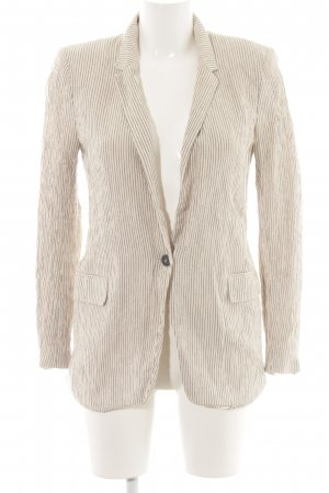 H&M Long-Blazer wollweiß Streifenmuster Business-Look