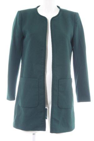 H&M Long-Blazer grün Webmuster Business-Look