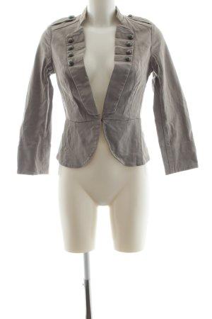 H&M Long-Blazer hellgrau Elegant