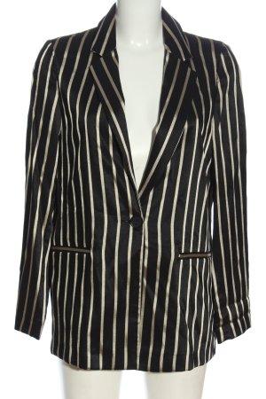 H&M Long-Blazer schwarz-wollweiß Streifenmuster Casual-Look
