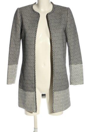 H&M Long-Blazer schwarz-weiß Allover-Druck Casual-Look