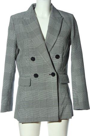 H&M Long-Blazer schwarz-hellgrau Karomuster Business-Look