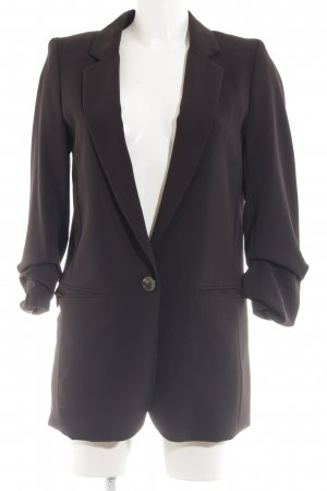 H&M Long-Blazer braun Business-Look