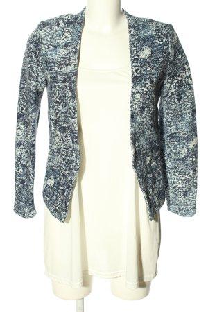 H&M Long-Blazer blau-weiß meliert Casual-Look