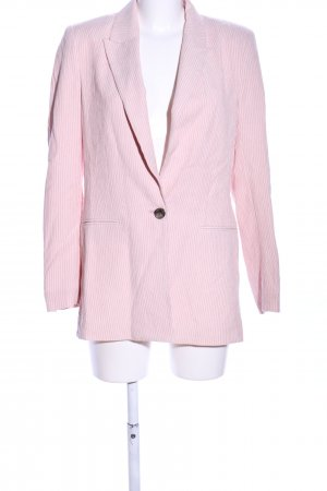 H&M Long-Blazer pink Allover-Druck Business-Look