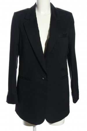 H&M Long-Blazer schwarz Casual-Look