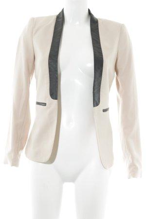 H&M Long-Blazer altrosa-schwarz Business-Look