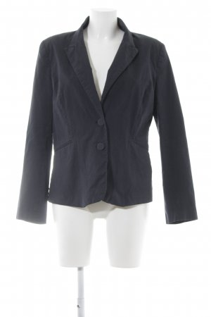 H&M Long-Blazer anthrazit Nadelstreifen Business-Look