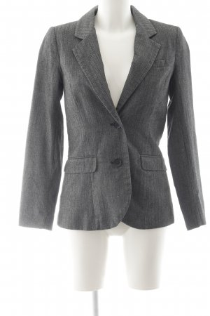 H&M Long-Blazer anthrazit-weiß Business-Look