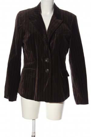 H&M Long-Blazer braun Streifenmuster Casual-Look