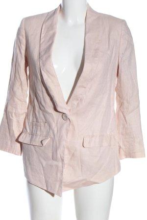 H&M Long-Blazer pink Streifenmuster Casual-Look