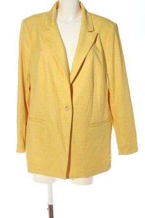 H&M Long-Blazer blassgelb Business-Look