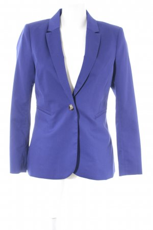 H&M Long-Blazer blau Business-Look
