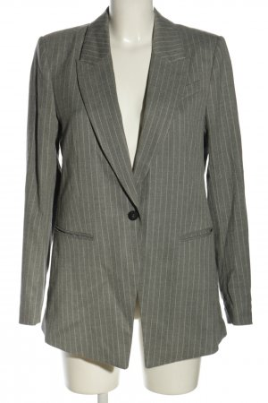 H&M Long-Blazer hellgrau-weiß Streifenmuster Business-Look