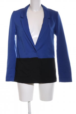 H&M Long-Blazer blau-schwarz Business-Look