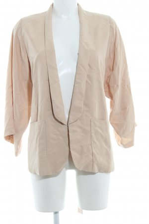 H&M Long-Blazer creme-beige Business-Look