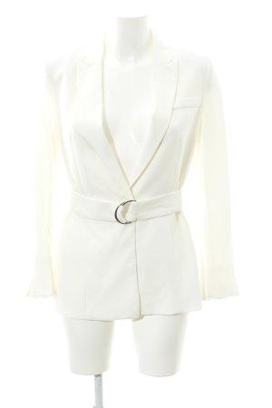 H&M Long-Blazer creme Business-Look