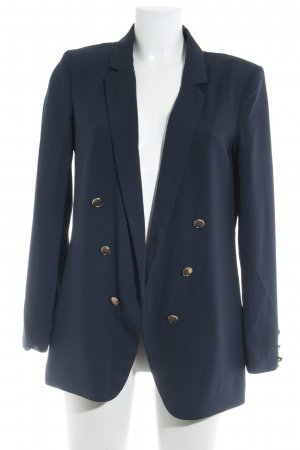 H&M Long-Blazer dunkelblau Business-Look