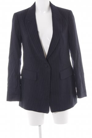 H&M Long-Blazer dunkelblau Streifenmuster Business-Look