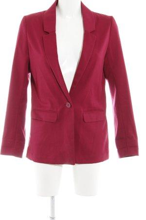 H&M Long-Blazer dunkelrot Elegant