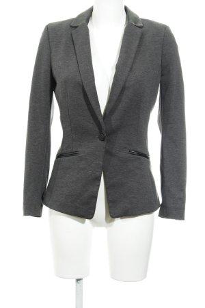 H&M Long-Blazer grau-schwarz Elegant