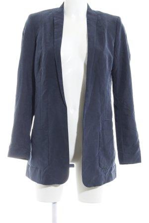 H&M Long-Blazer graublau schlichter Stil