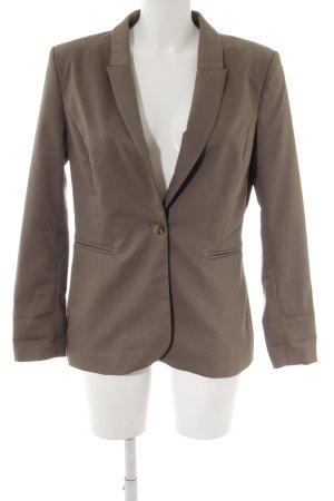 H&M Long-Blazer graubraun Webmuster Casual-Look