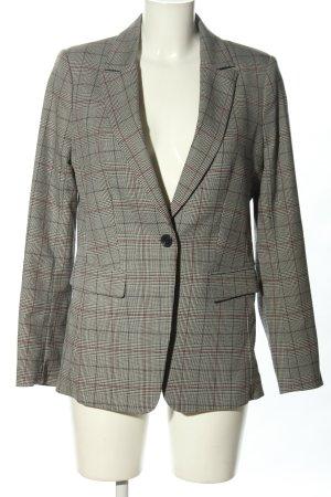 H&M Long-Blazer hellgrau-bronzefarben Karomuster Business-Look