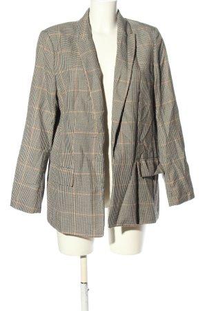 H&M Long-Blazer hellgrau-hellorange Karomuster Business-Look