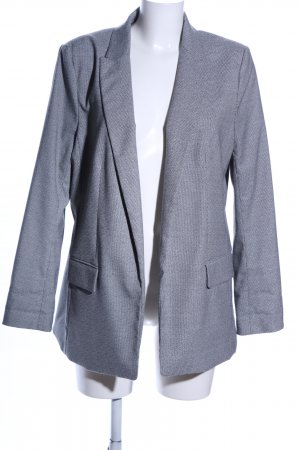 H&M Long-Blazer hellgrau Karomuster Business-Look