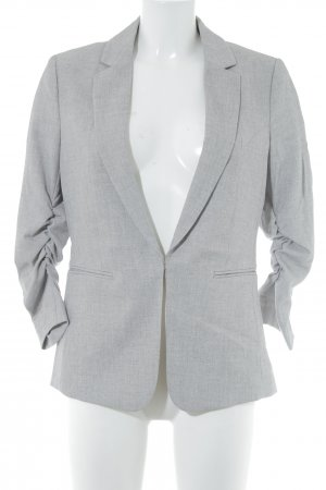 H&M Long-Blazer hellgrau meliert Business-Look