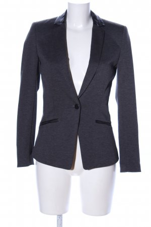 H&M Long Blazer light grey flecked business style