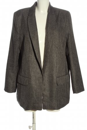 H&M Long-Blazer hellgrau meliert Casual-Look