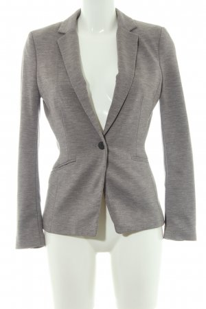 H&M Long-Blazer hellgrau meliert Casual-Look