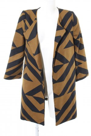 H&M Long-Blazer hellorange-braun abstraktes Muster Casual-Look