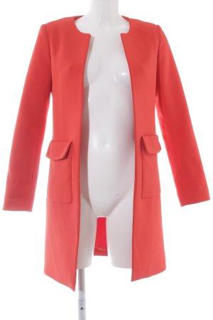 H&M Long-Blazer rot schlichter Stil