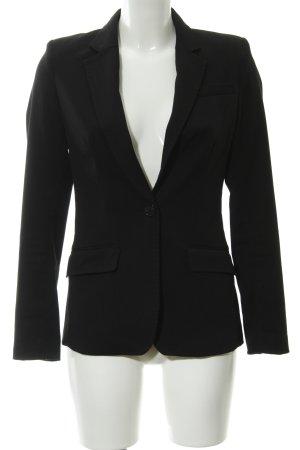 H&M Long-Blazer schwarz klassischer Stil